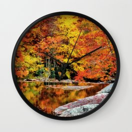 Autumn Reflection Wall Clock