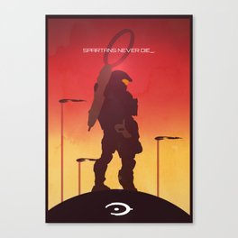 Spartans Never Die - Halo Canvas Print