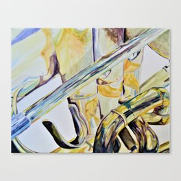 Bright and Brassy Canvas Print
