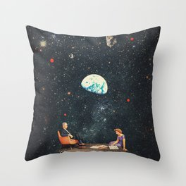 I'm Not going Anywhere Throw Pillow