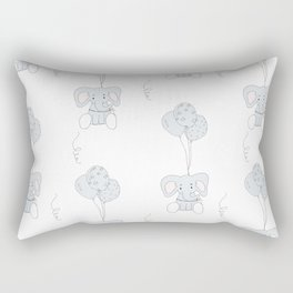 Elephants with Balloons Rectangular Pillow