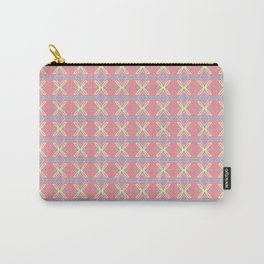 Pastel Pink Yellow Blue Pattern Carry-All Pouch