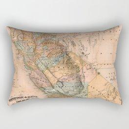 Map Of California 1861 Rectangular Pillow