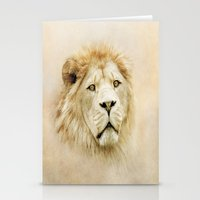 lion Stationery Cards featuring Lion by Peaky40