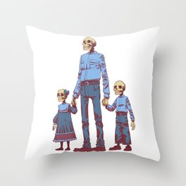 The Future is Bleak Throw Pillow