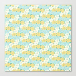 Hana Poppies - Yellow and Teal Canvas Print