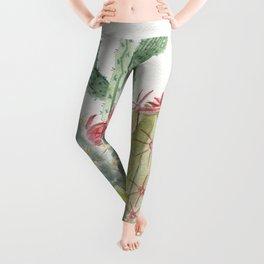 Cactus Watercolor Leggings