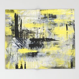 Urban Abstract Throw Blanket