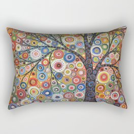 Abstract Art Landscape Original Painting .. Endless Sky Rectangular Pillow