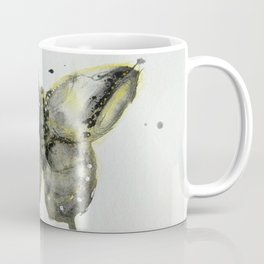 Yellow and Gray Butterfly Coffee Mug