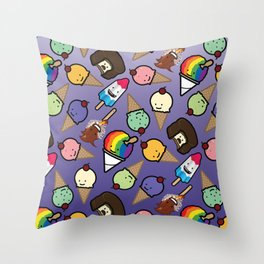 Purple Ombre Frosty Treats Throw Pillow