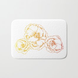 Sunshine Poppies Bath Mat