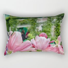 Monet's Tulips Rectangular Pillow