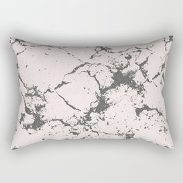Modern blush pink gray blush tones marble Rectangular Pillow