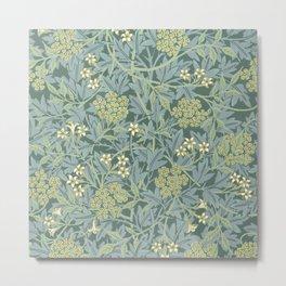 Jasmine Block Print Wallpaper by William Morris, 1872 Metal Print