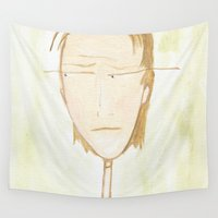 plain Wall Tapestries featuring Plain Jane by andreasart