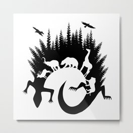 Lizard Nature Time Metal Print