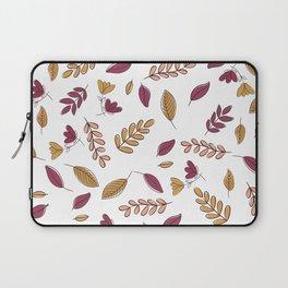 Abstract Burgundy Orange Pink Floral Foliage Laptop Sleeve