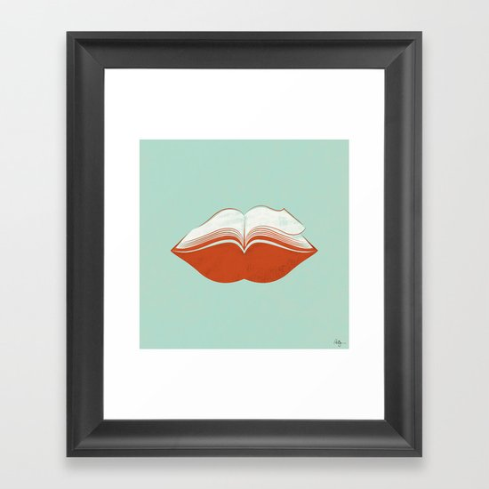 Read My Lips Framed Art Print