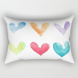 All the Hearts Rectangular Pillow