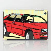 audi iPad Cases featuring AUDI QUATTRO BRITISH EDITION 20V RED and BEIGE by Егор Шиянов