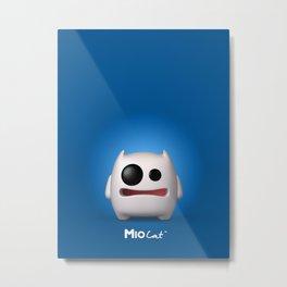 Mio Blue Metal Print