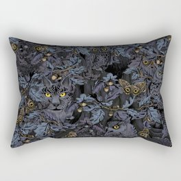 Fit In (moonlit blue) Rectangular Pillow