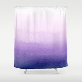 Purple Watercolor Design Shower Curtain