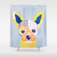 chihuahua Shower Curtains featuring Chihuahua  by Adriannedesignss