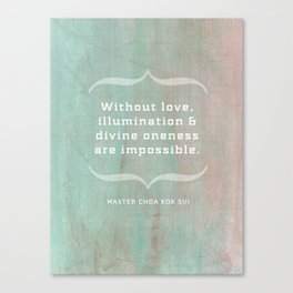 Love and oneness Canvas Print