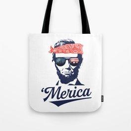Merica Abraham Lincoln Tote Bag