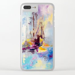 Illusive boats Clear iPhone Case