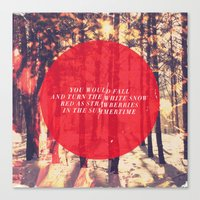 fleet foxes Canvas Prints featuring Fleet Foxes - White Winter Hymnal by J.J. del Rosario