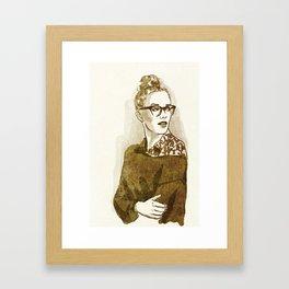 look back. Framed Art Print