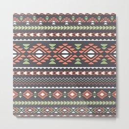 Ethnic tribal print in boho style Metal Print