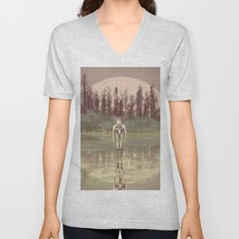 Tree spirit from the woods lake Unisex V-Neck