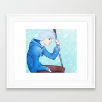 jack frost Framed Art Prints featuring Jack Frost by ribkaDory