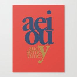Vowels 1 Canvas Print