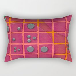 """Galactic spots & squares pattern"" Rectangular Pillow"