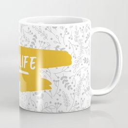 #momlife - Mustard & Grey Coffee Mug
