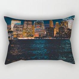 New York City Lights and Lake (Color) Rectangular Pillow