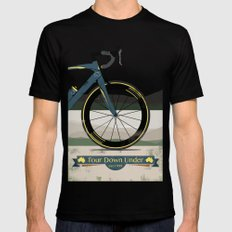 Tour Down Under Bike Race Mens Fitted Tee Black LARGE