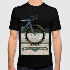 Tour Down Under Bike Race Mens Fitted Tee Black MEDIUM