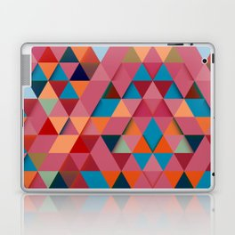 Colorfull abstract darker triangle pattern Laptop & iPad Skin