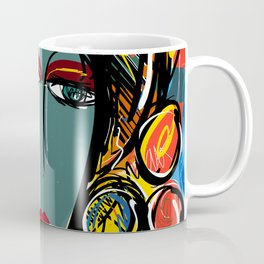 Portrait of a Girl with Hat French Pop Art Expressionism Coffee Mug