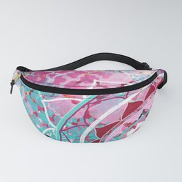 Pink and Turquoise Mixed Media Mandala Fanny Pack