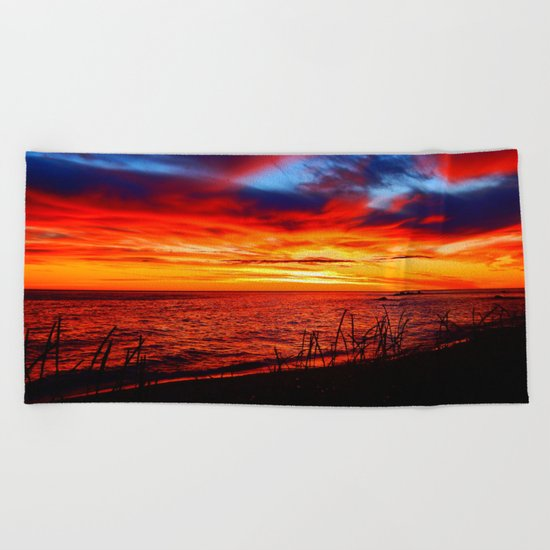 Red Sea at Dawn Beach Towel