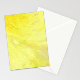 Abstract Yellow Sun by Robert S. Lee Stationery Cards