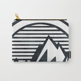 THE MOUNTAIN Black and White Carry-All Pouch