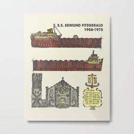 Edmund Fitzgerald Metal Print